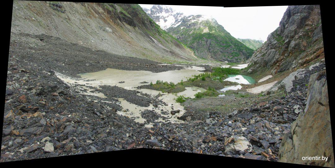 На краю ледово-каменной плотины