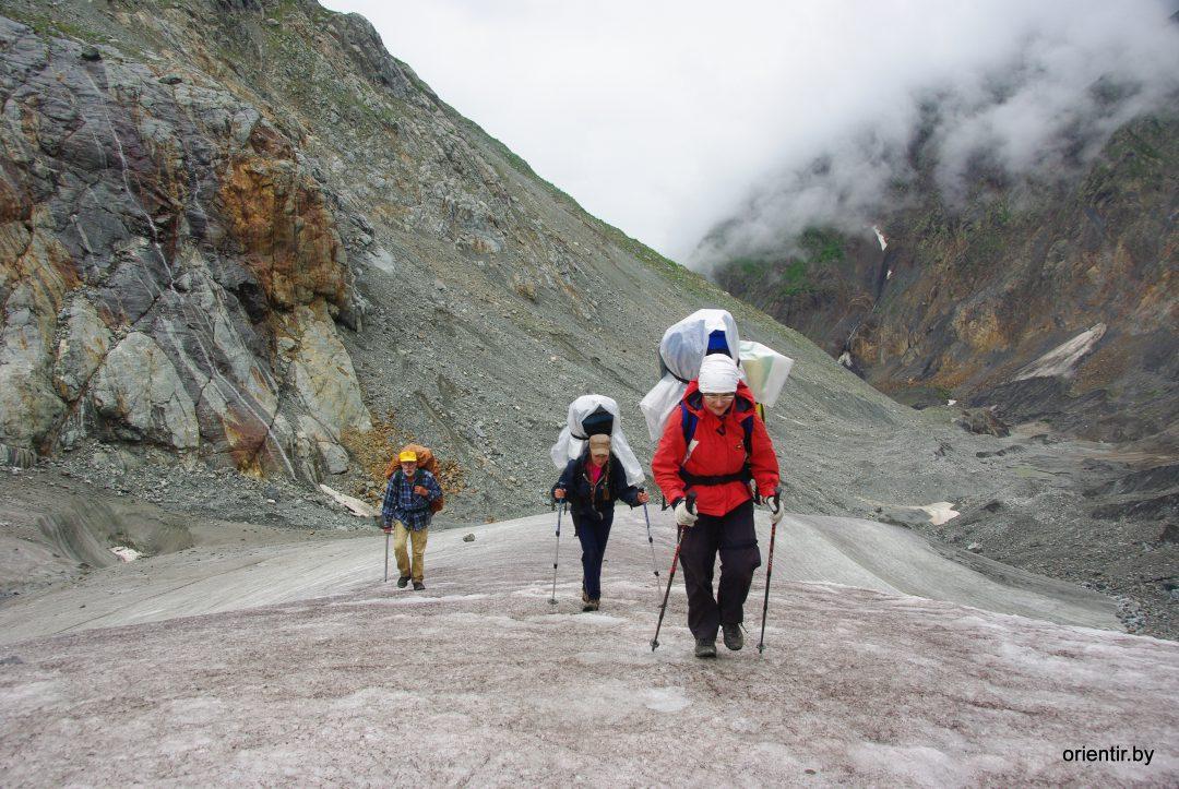 Выход на ледник