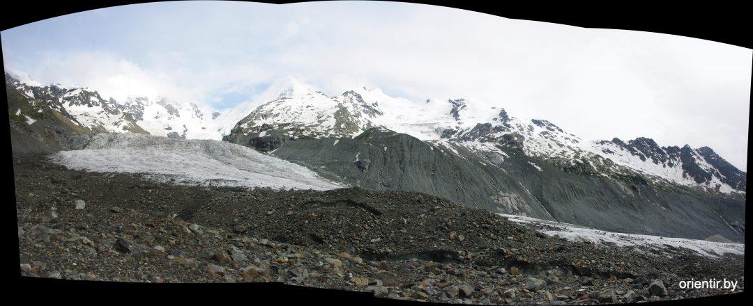 Ледник Цаннер (или Оиш) уходящий к Тетнульду