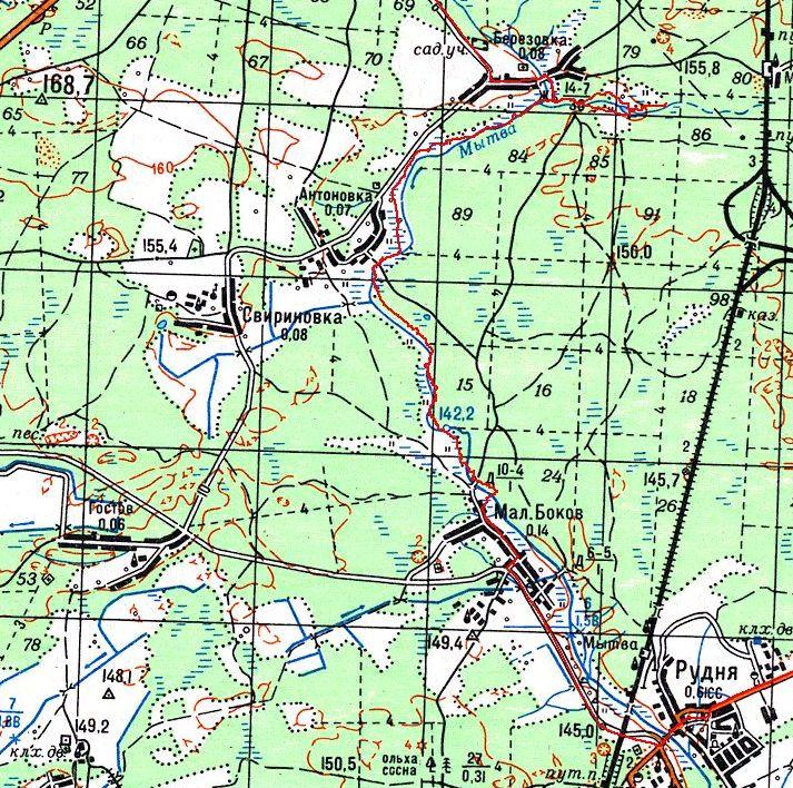 Карта с пройденным маршрутом