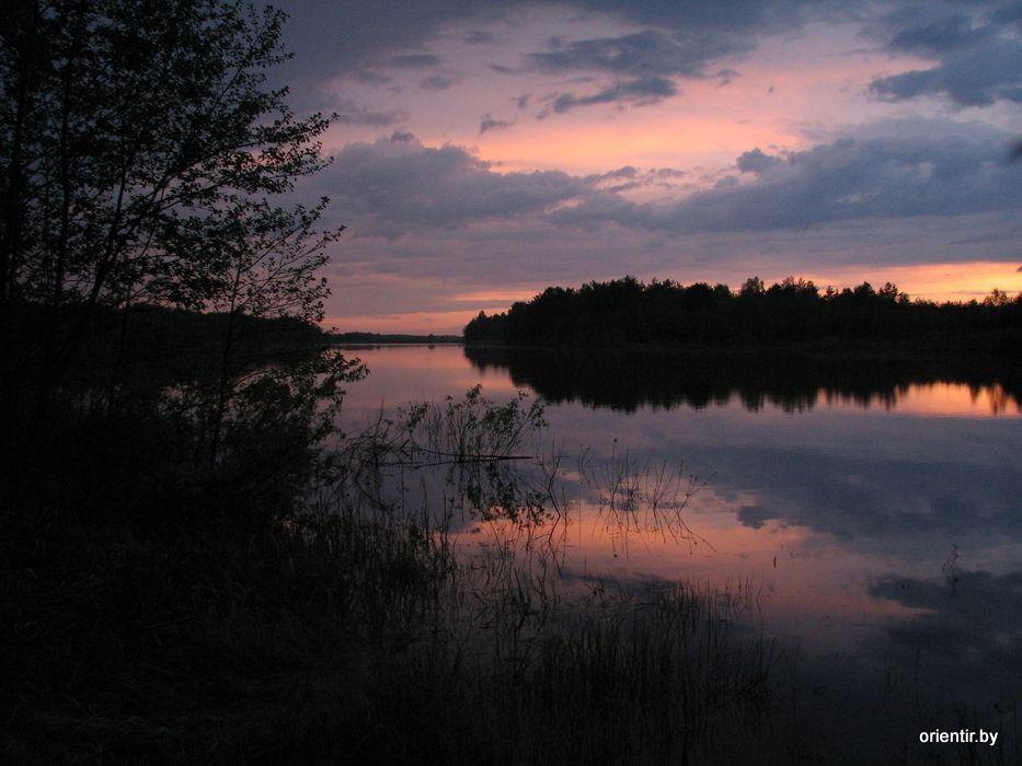 Закат на Глинницком озере